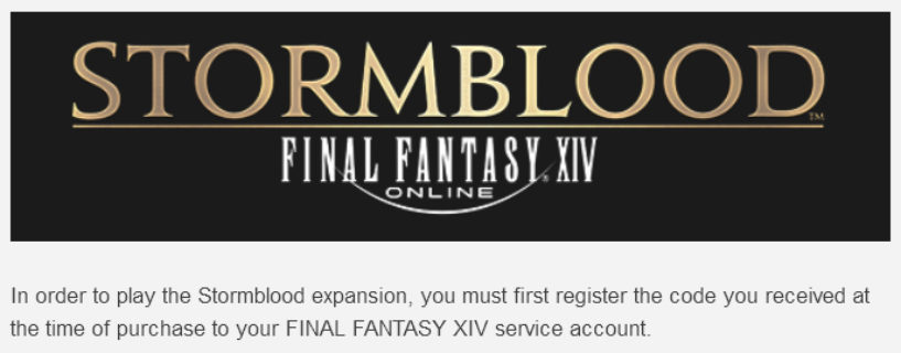 For Those Who Preordered Stormblood and didn't get a code!